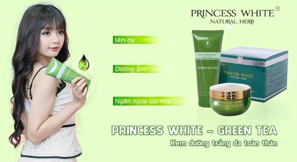 kem body trà xanh princess white