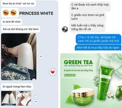 ship body trà xanh