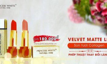 Son tươi Collagen Princess White có tốt không? giá bao nhiêu?