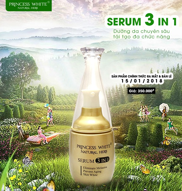 Serum 3 in 1 Princess white