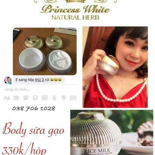 review body sữa gạo princess white
