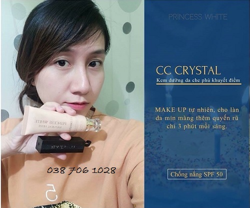 mua kem cc cream princess white