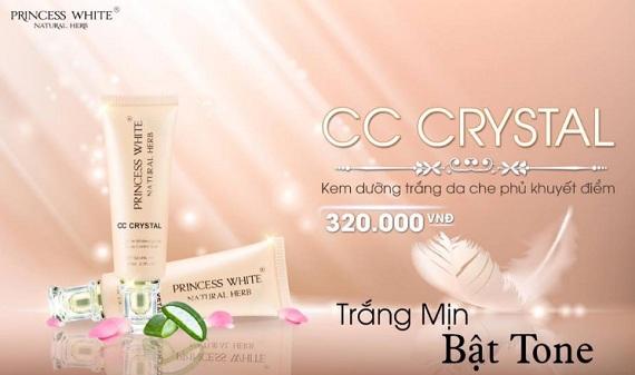 Kem dưỡng da che khuyết điểm Cc Cream Crystal Princess White