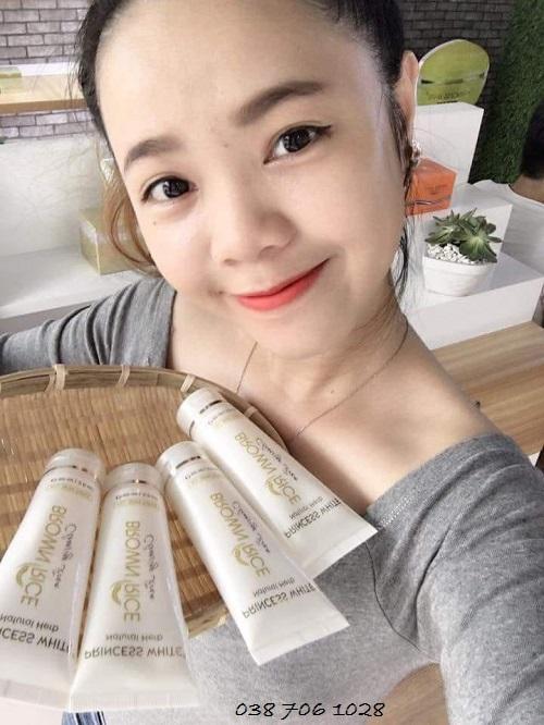 sữa rửa mặt princess white cho da nhạy cảm