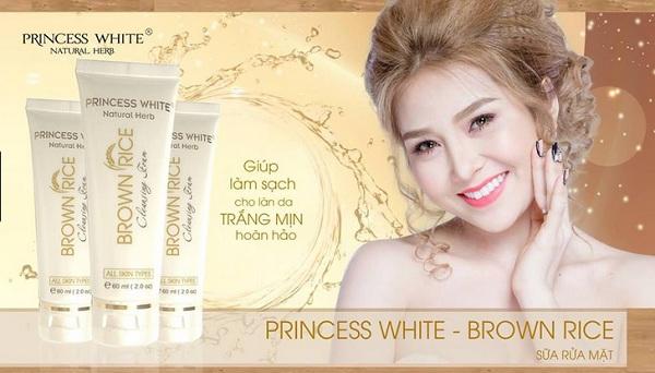 Sữa rửa mặt mầm gạo Princess White