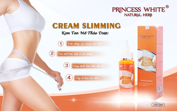 Kem tan mỡ Slimming Cream Princess White