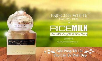 Kem body sữa gạo Princess White giá bao nhiêu? Có tốt không