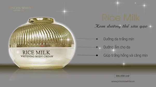kem body sữa gạo princess white