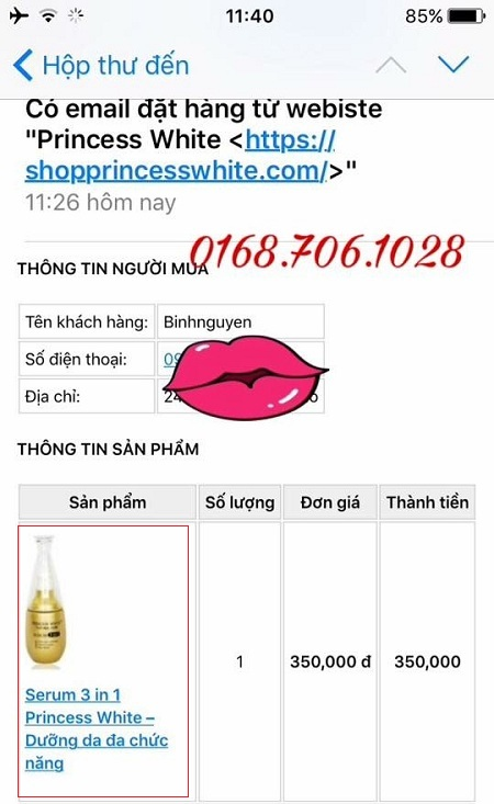mua serum princess white