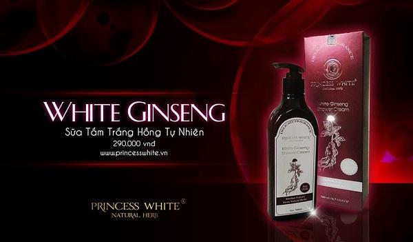Sữa tắm Hồng Sâm Princess White