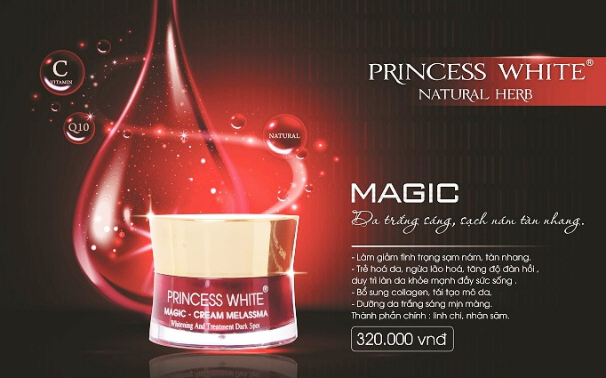 Kem trị nám Magic princess white
