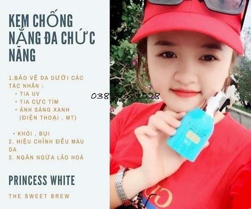 giá bán kem chống nắng princess white