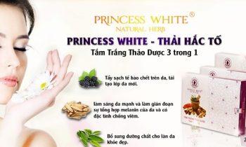 Tắm trắng thảo dược Princess White có tốt không? Thải hắc tố 3 in 1