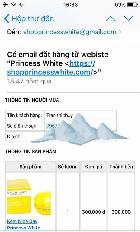 phản hồi Princess White