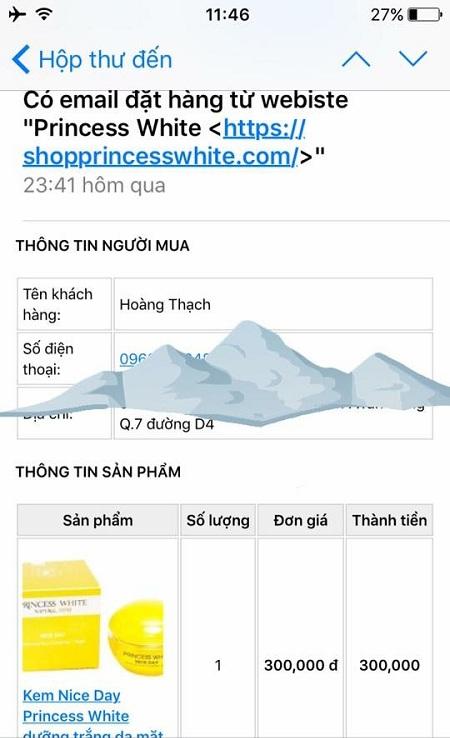 phản hồi khách về sản phẩm Princess white