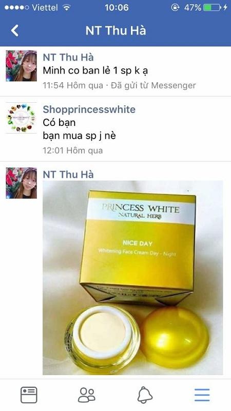 đặt hàng kem nice day princess white