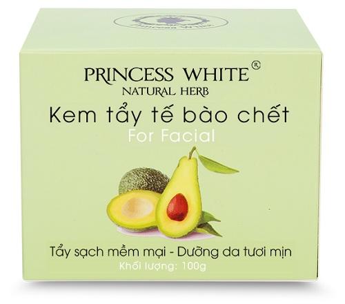 Kem tẩy tế bào chết Princess White chiết suất từ trái bơ