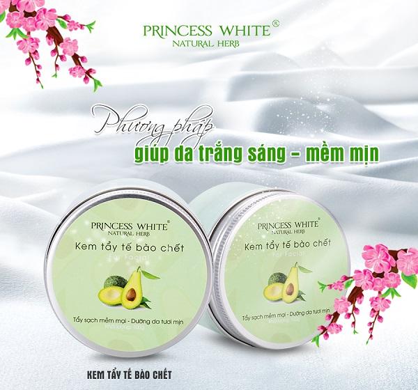 kem tẩy tế bào chết princess white