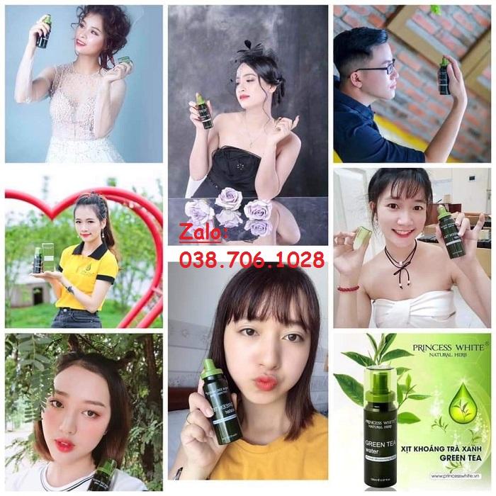 Xịt Khoáng Trà Xanh Green Tea Water